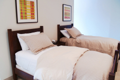 Image of one of the two bed suites at Guest house on the Mount.