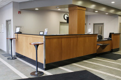 Image of the Front Desk at RCC - Hamilton.