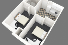 Image of an overhead look of a suite at RCC-Kitchener-Waterloo.