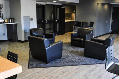 Image of the Lounge space at RCC-Kitchener-Waterloo. It's a large space with seating set-up.