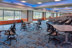 Image of the Conference space at RCC-Oakville. It's a large space with seating set-up.