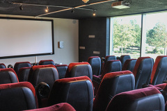 Image of the movie lounge at RCC-Oakville.
