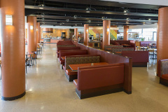 Image of the dinning space at RCC-Oshawa. It's a large space with seating set-up.