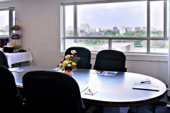 Image of the meeting space at RCC-Ottawa Downtown. It's a large space with seating set-up.