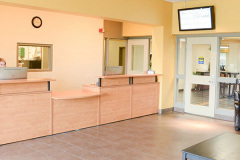 Image of the front desk at RCC-Welland.