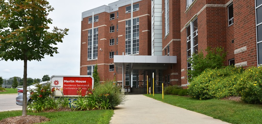 Exterior of Merlin House at RCC - London at Fanshawe College