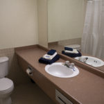 Image of bathroom at RCC - Sarnia. Shows vanity and toilet
